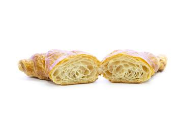 Croissant butter cross section sliced