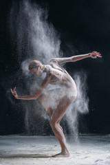 dancer and flour