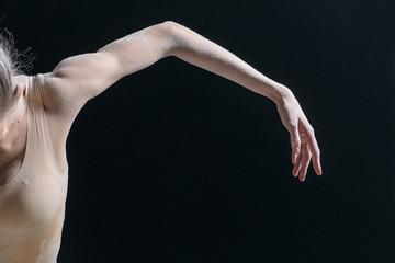 dancer's body parts and flour