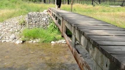 Steps on Small Pedestrian Bridge