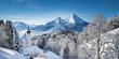 Winter landscape in the Alps with church