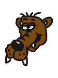 Funny quirky funny comic bear face poster