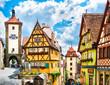 Historic town of Rothenburg ob der Tauber, Bavaria, Germany - 79654443