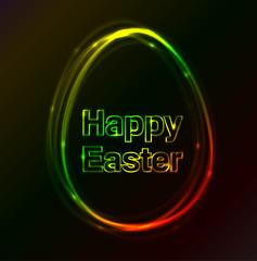 Happy Easter plasma egg