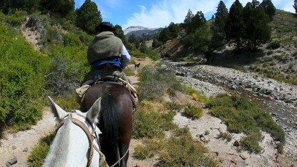 Horse ride in North Patagonia, Argentina