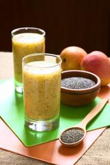 Chia seed (lat. Salvia hispanica) and mango juice