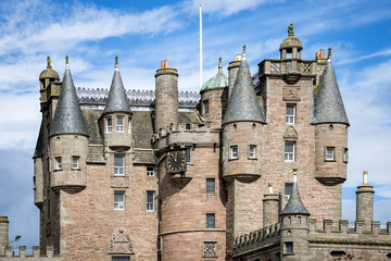 Architectural details of Glamis Castle, Scotland