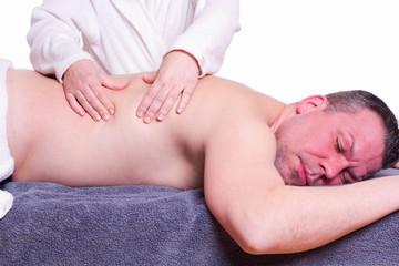 Mann, Der Massage - weißer Hintergrund