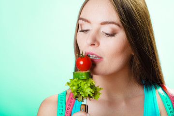 Dieting, healthcare and weight loss concept.