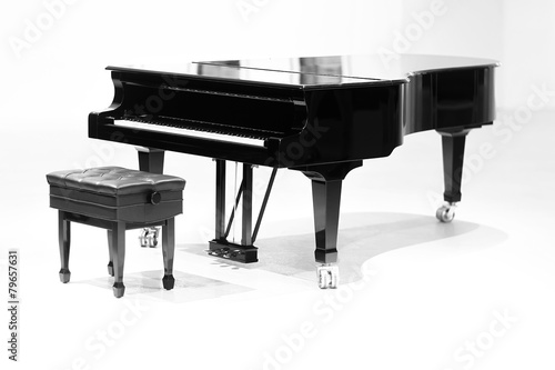 grand piano on white background - 79657631