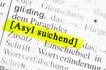 asyl suchend