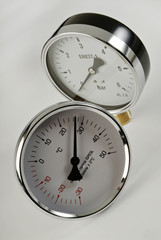 industrial thermometer and barometer