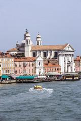 View to Gesuati Quay in summer Venice