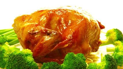 golden grilled whole chicken