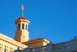 Leinwanddruck Bild - Sunset on Scientology Architecture