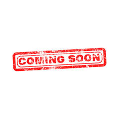 coming soon red grunge rubber stamp vector illustration