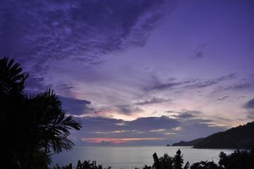 Patong beach afterglow