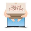 Messenger sent a brown cardboard box online shopping