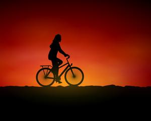 wueste fahrradfahrerin I