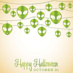 Halloween string card in vector format.