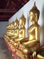 buddha image row
