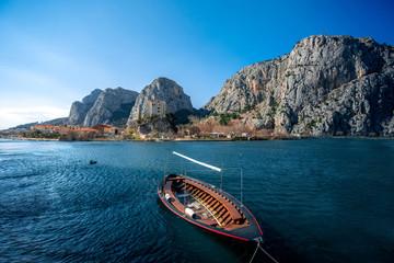 Boat in Cetina river