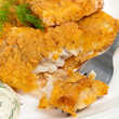 Breaded White Fish Fillets. Selective focus. - 79663258