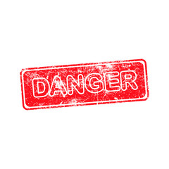danger red grunge rubber stamp vector illustration