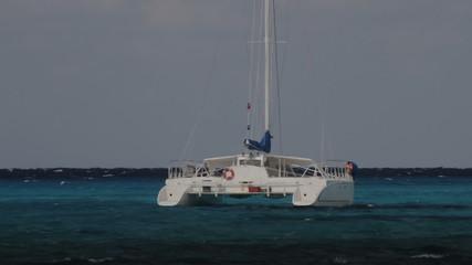 Catamaran in Caribbean Sea