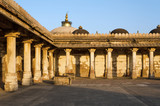 Colonnaded of historic Tomb of Mehmud Begada, Sultan of Gujarat poster