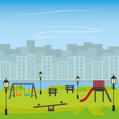 Park design, vector illustration.