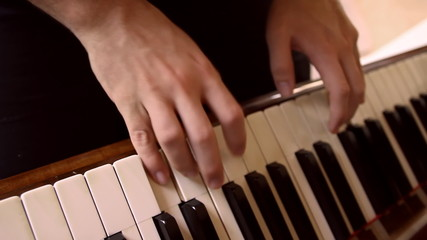 Piano Playing Top View