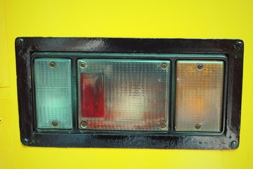 Old vintage car tail light.