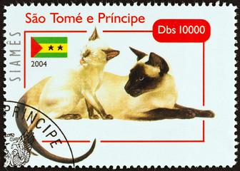Siamese cats (Sao Tome and Principe 2004)