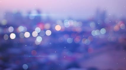 defocused lights of night city loop background 4k (4096x2304)