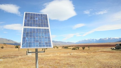 Solar panel set in Patagonian steppesolar; panel; electricity; r