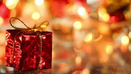 gift box holiday decoration close-up seamless loop