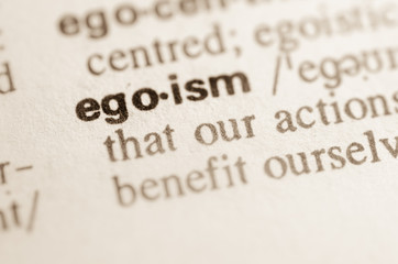 Dictionary definition of word egoism