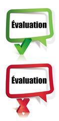 évaluation positive et négative