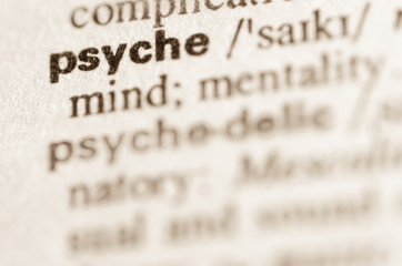 Dictionary definition of word psyche