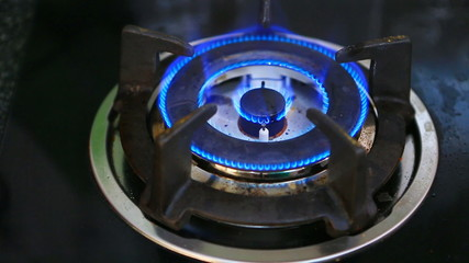Open gas stove for cooking