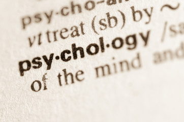 Dictionary definition of word psychology