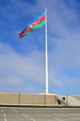 The largest flag in the world in Baku, Azerbaijan