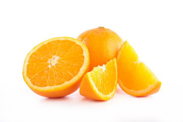 fresh orange isolated on white