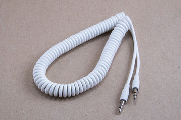 White spiral cable