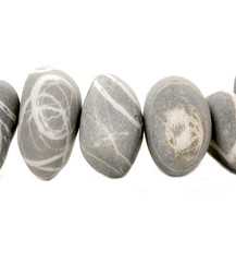 Row of natural striped stones