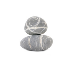 Two striped stone isolated