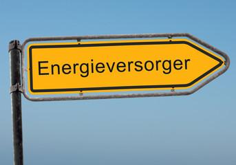 Strassenschild 38 - Energieversorger