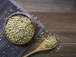 An overhead shot of lentil