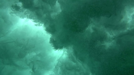 Super Slow Motion Underwater Crashing Wave